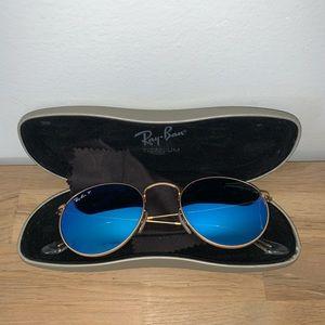 Ray Ban Blue Polarized Sunglasses W/ case & Cloth